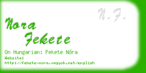 nora fekete business card